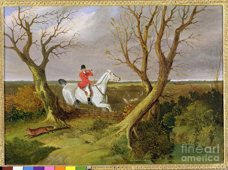 The Photograph - The Suffolk Hunt - Gone Away by John Frederick Herring Snr