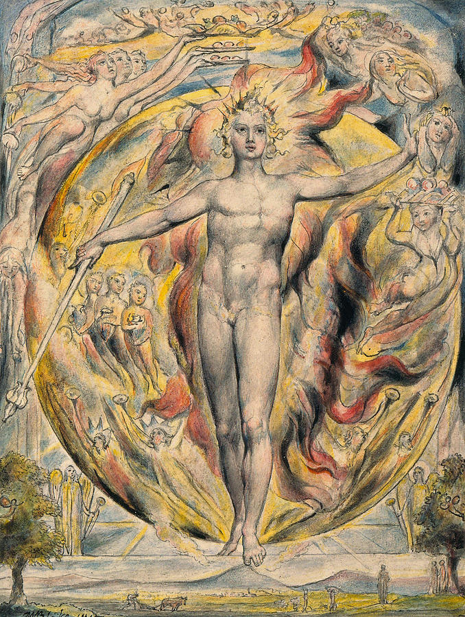 The Sun At His Eastern Gate Painting by William Blake