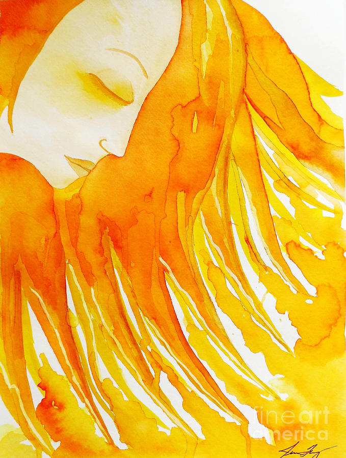 Sun Goddess Painting - The Sun Goddess by Jean Fry