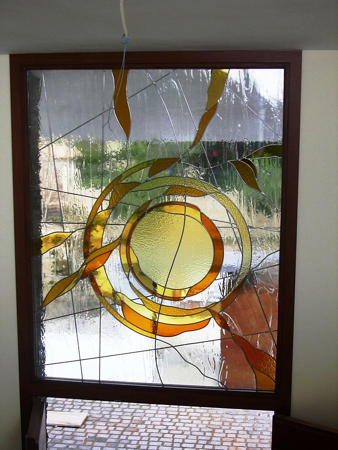 Vidriera Glass Art - The Sun by Justyna Pastuszka