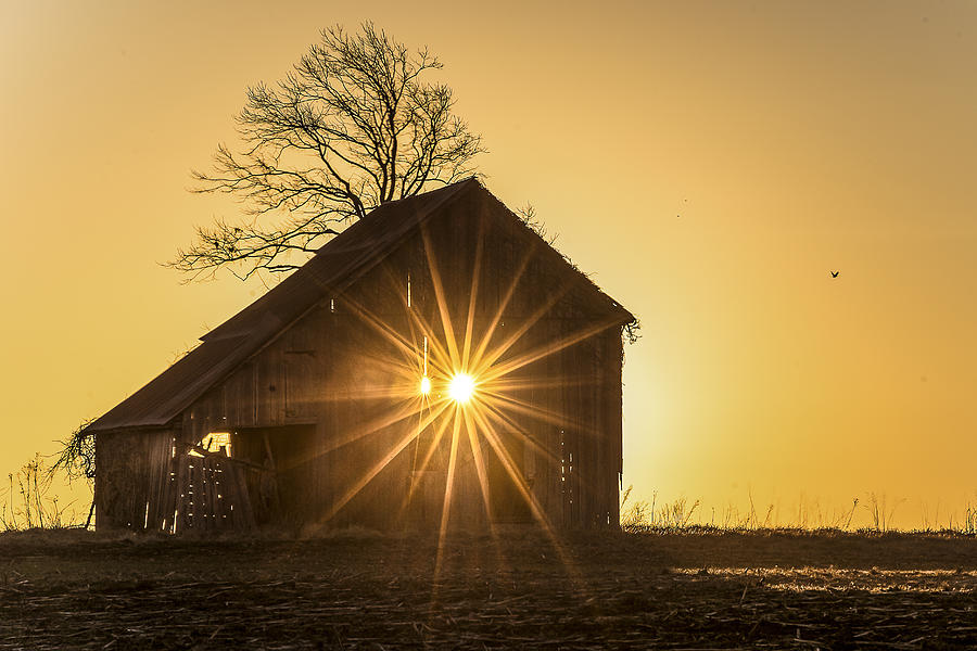 Barn Photograph - The Sun Rises by Garett Gabriel