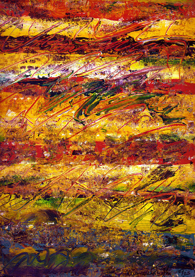 Abstract Painting - The Sun Rose One Step At A Time by Wayne Potrafka