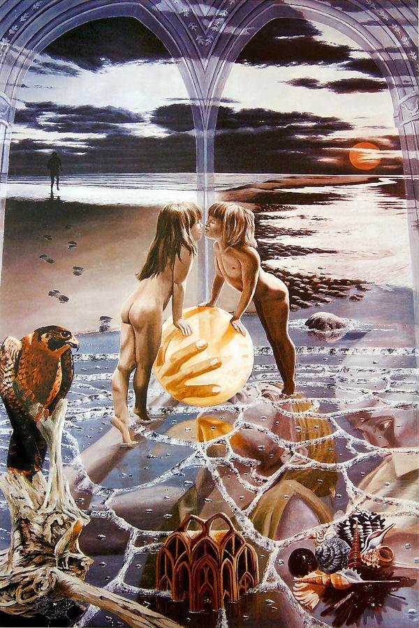 Tarot Painting - The Sun - Tarot card by Richard Meric