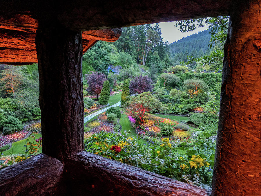 The Sunken Garden from lookout at dusk by Michael Bessler
