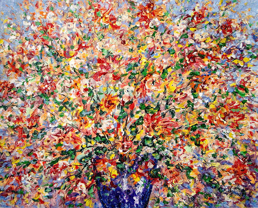 Flowers Painting - The Sunlight Flowers by Leonard Holland