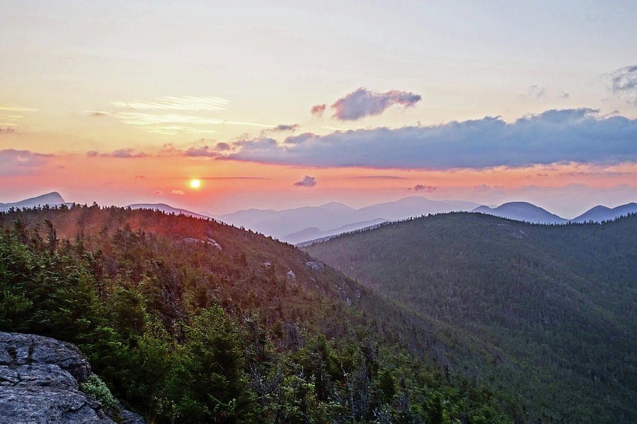 The Sunrise from Phelps Mountain Summit in the Adirondacks by Toby McGuire