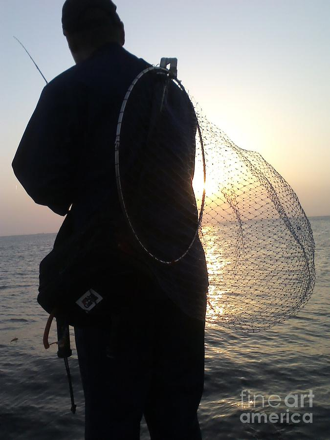 The Sunset Fisherman Photograph by Paul Rowe