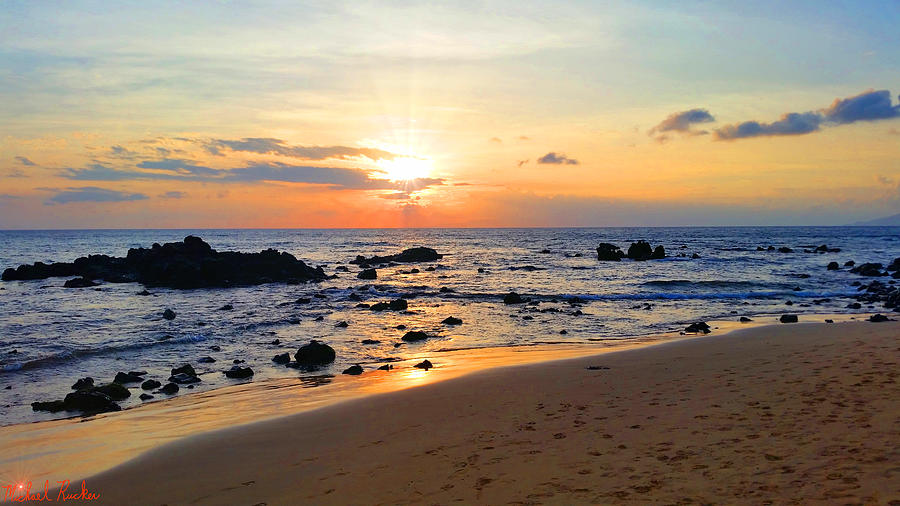 Hawaiian Sunset Photograph - The Sunset Of Maui by Michael Rucker