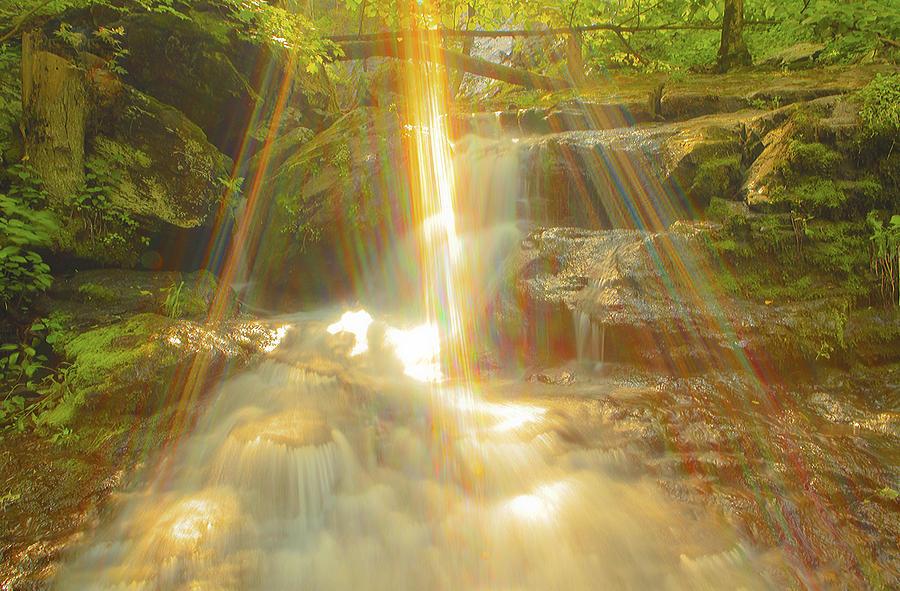 Shenandoah Photographs Photograph - The Sunset  On Jones Falls by Glenn Vidal