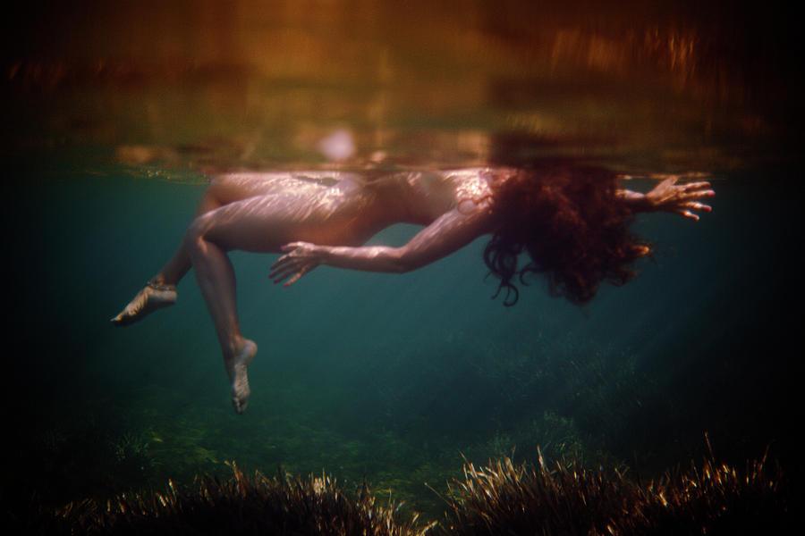 Swim Photograph - The Superior Mermaid by Gemma Silvestre