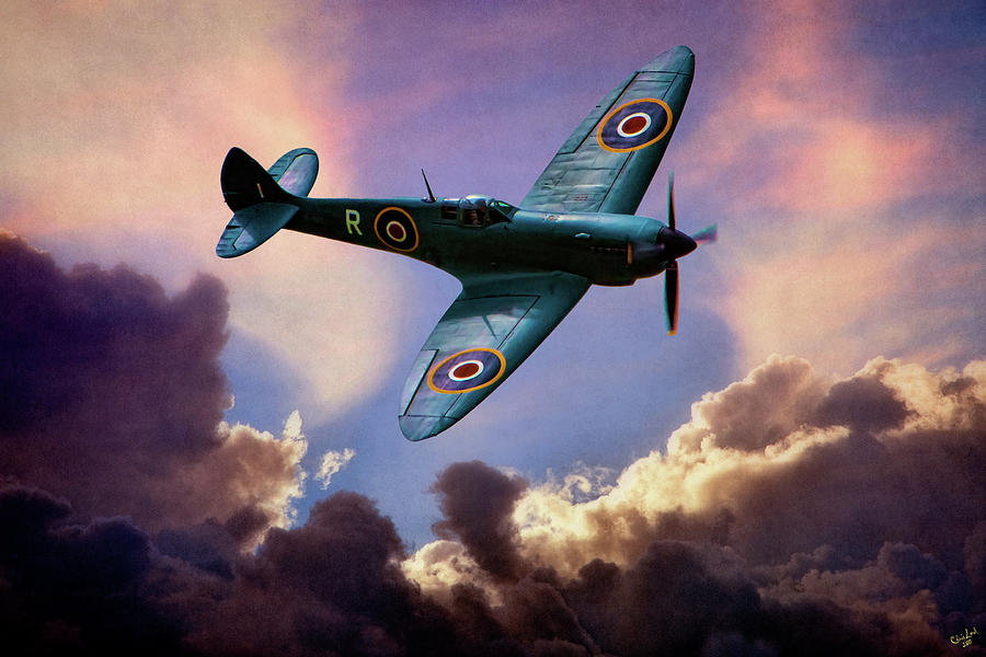 Aviation Photograph - The Supermarine Spitfire by Chris Lord