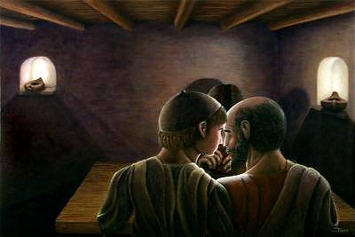 Religious Painting - The Supper At Emmaus by Darr Sandberg