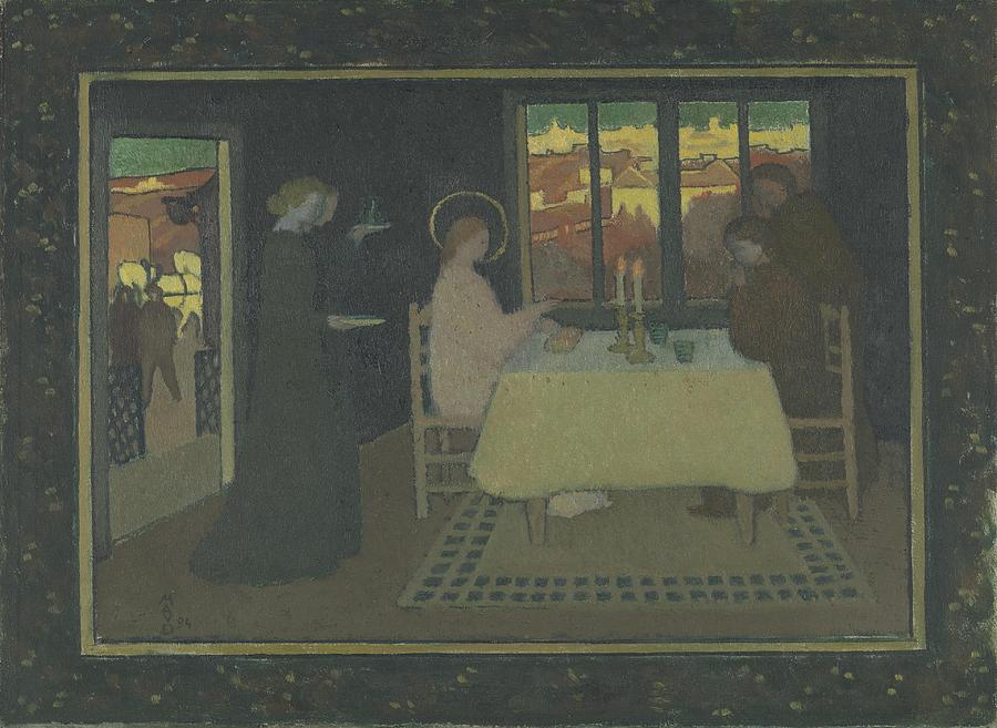 Supper Painting - The Supper At Emmaus  by Celestial Images