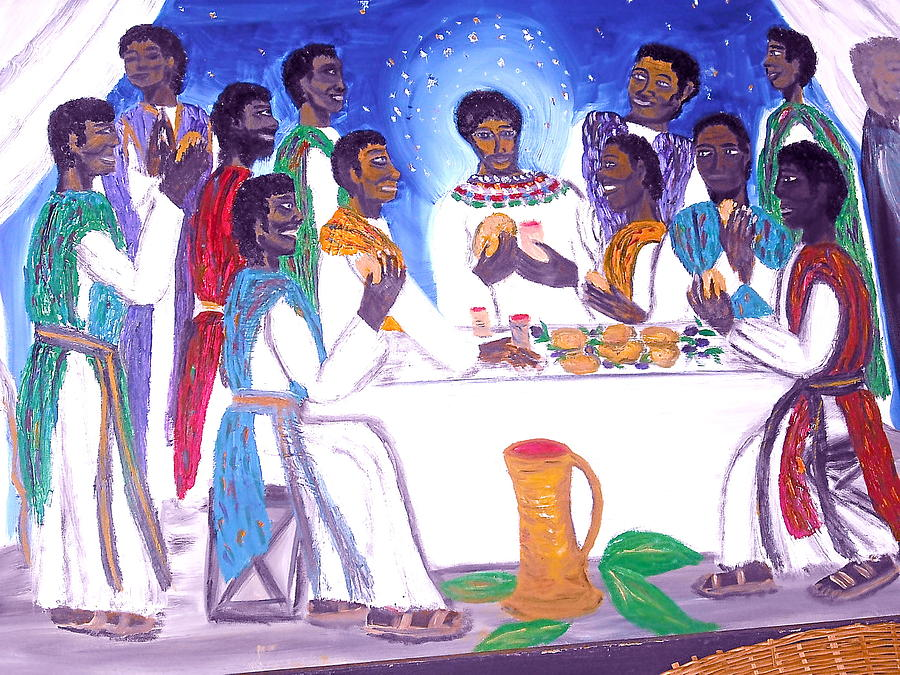 Religious Painting - The Supper by BJ Abrams