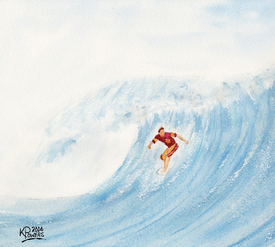 Surf Painting - The Surfer by Ken Powers