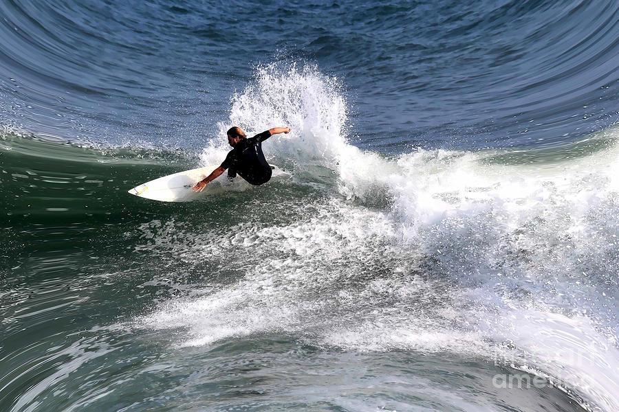 Ocean Scene Photograph - The Surfer by Tom Prendergast