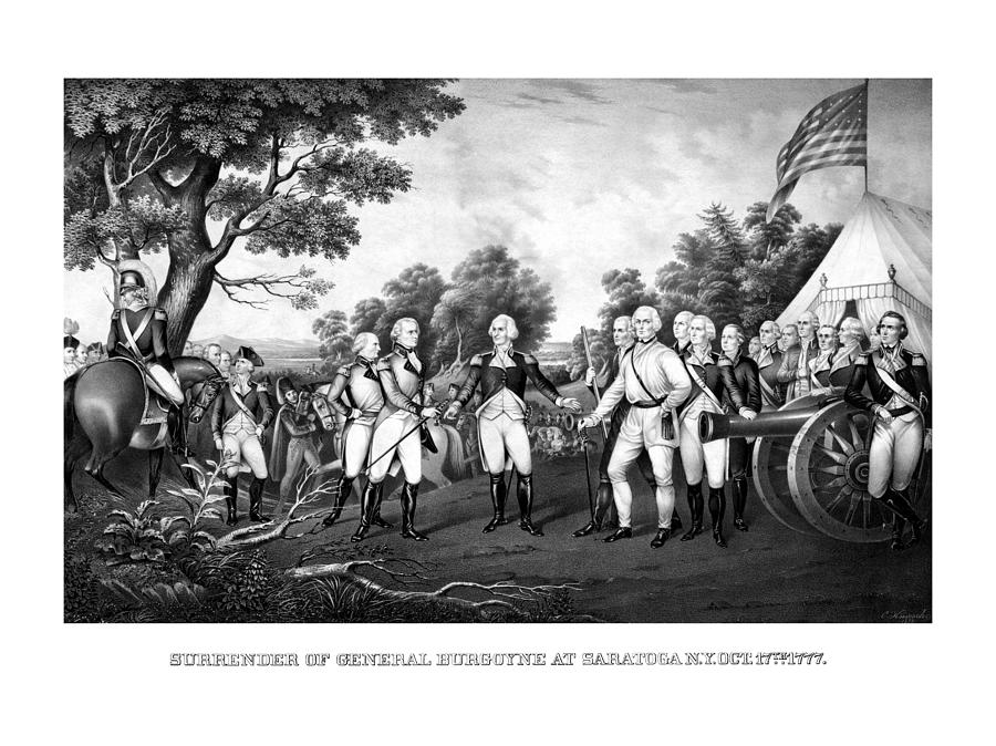 Revolutionary War Painting - The Surrender Of General Burgoyne by War Is Hell Store