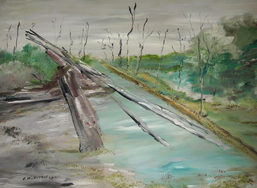 Landscape Painting - The Swamp by Edward Wolverton