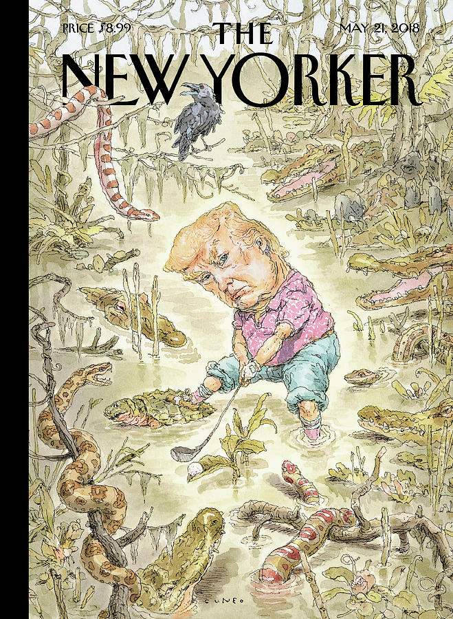 The Swamp Drawing by John Cuneo