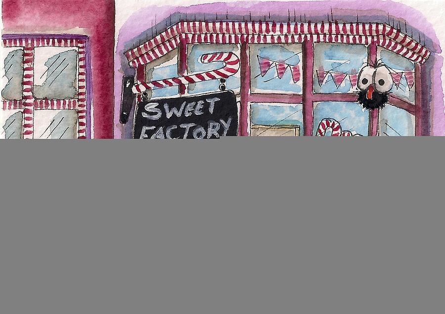 Lucia Stewart Painting - The Sweet Factory by Lucia Stewart