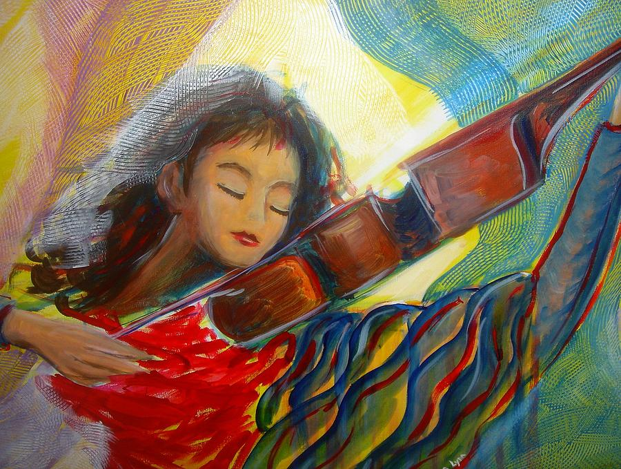 Violin Painting - The Sweetest Sounds by Regina Walsh
