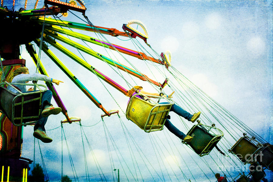 Carnival Photograph - The Swings by Kim Fearheiley