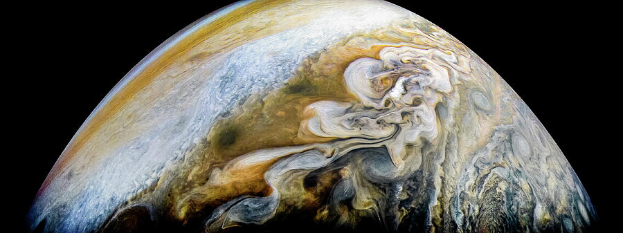 Juno Photograph - The Swirling Cloud Formations Of Jupiter by Nasa