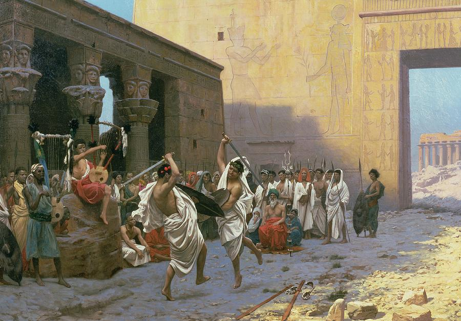 The Painting - The Sword Dance by Jean Leon Gerome