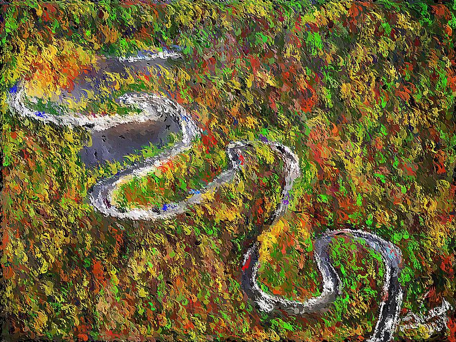 Tail Of The Dragon Photos >> The Tail Of The Dragon Painting By Cheryl Swenson