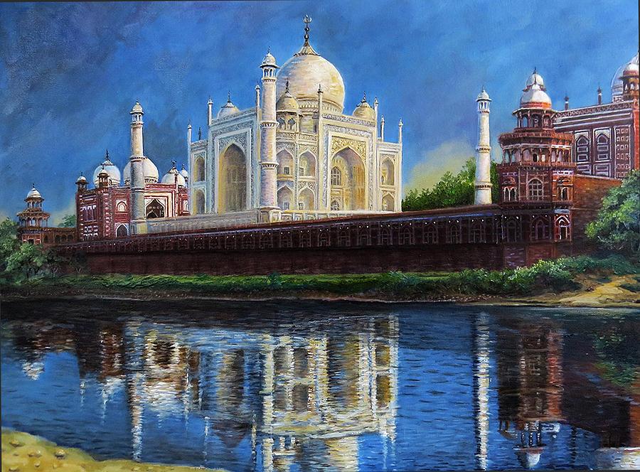 Hindu Shrine Painting - The Taj Mahal Shrine Of Beauty by Regina Femrite