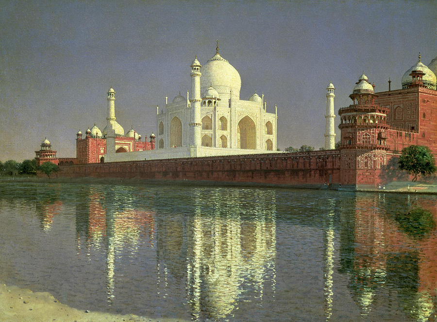The Painting - The Taj Mahal by Vasili Vasilievich Vereshchagin