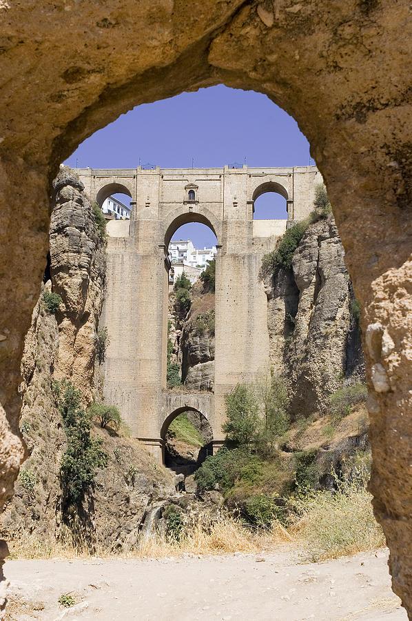 Ronda Photograph - The Tajo De Ronda And Puente Nuevo Bridge Andalucia Spain Europe by Mal Bray