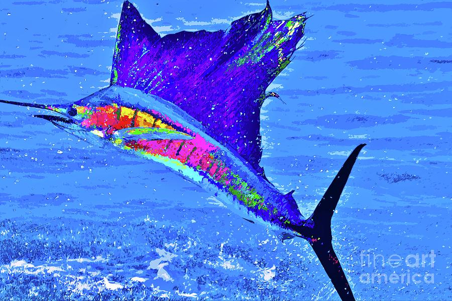 Sailfish Photograph - The Take Off by Keri West