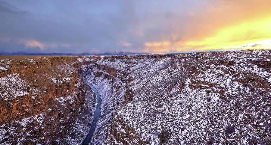Taos Photograph - The Taos Gorge by Rowdy Winters
