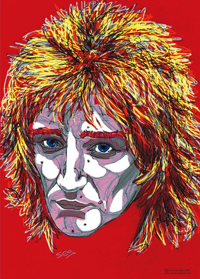 Rod Stewart Painting - The Tartan Of Rod Stewart by Suzanne Gee