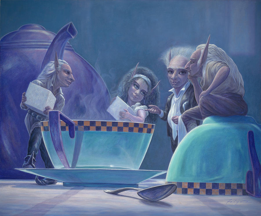 Fantasy Painting - The Tea Party by Leonard Filgate