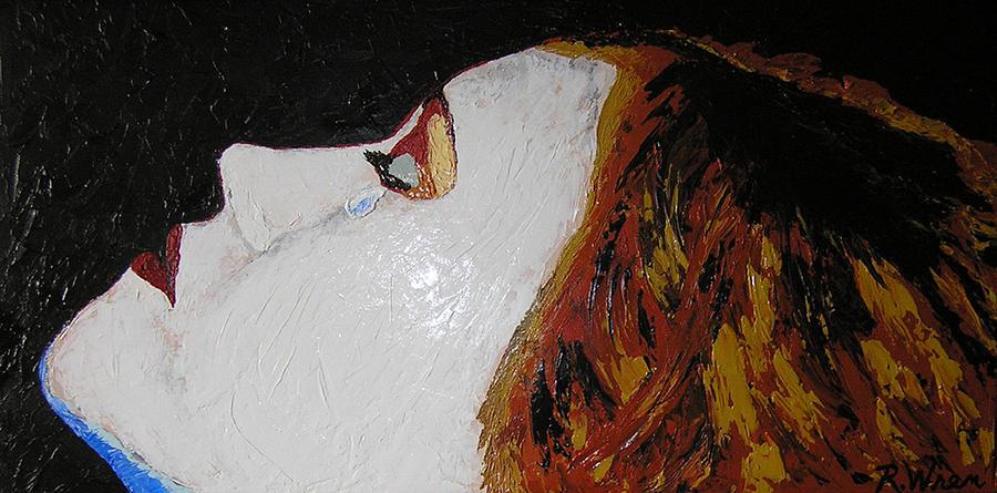 Portrait Painting - The Tear by Ricklene Wren