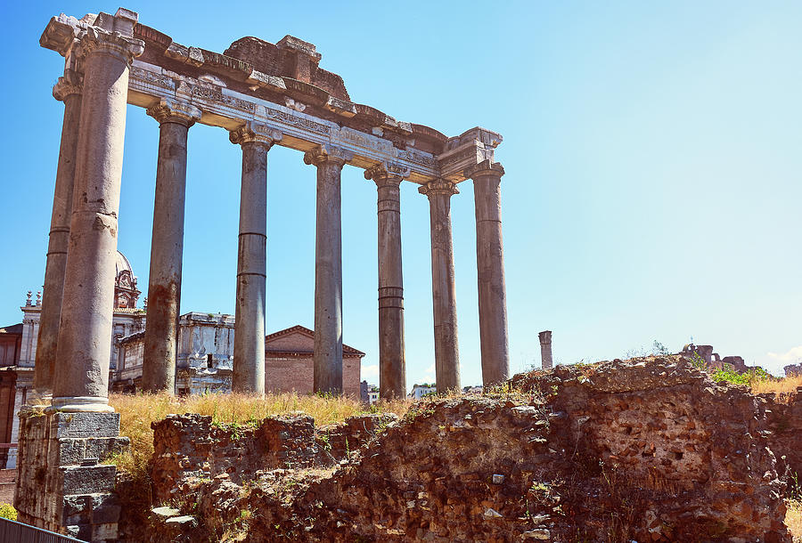 The Temple Of Saturn In The Roman Forum by Fine Art Photography Prints By  Eduardo Accorinti