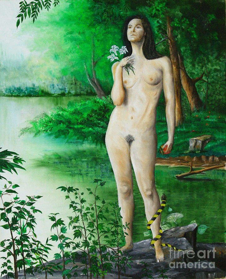 Snake Painting - The Temptation Of Eve by Christopher Keeler Doolin