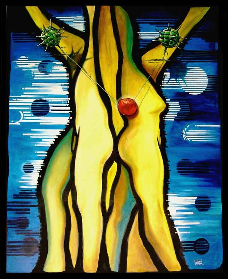 Apple Painting - The Temptation by Roger Calle