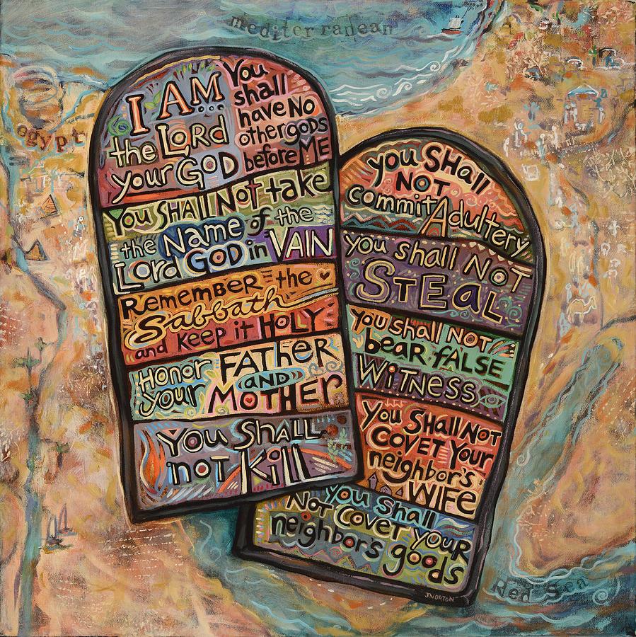 The Ten Commandments Painting By Jen Norton