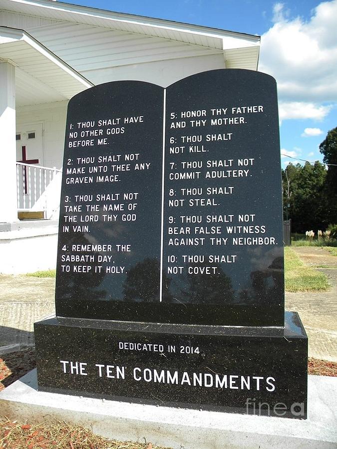 God Photograph - The Ten Commandments by Matthew Seufer