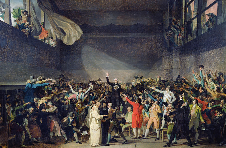The Painting - The Tennis Court Oath by Jacques Louis David