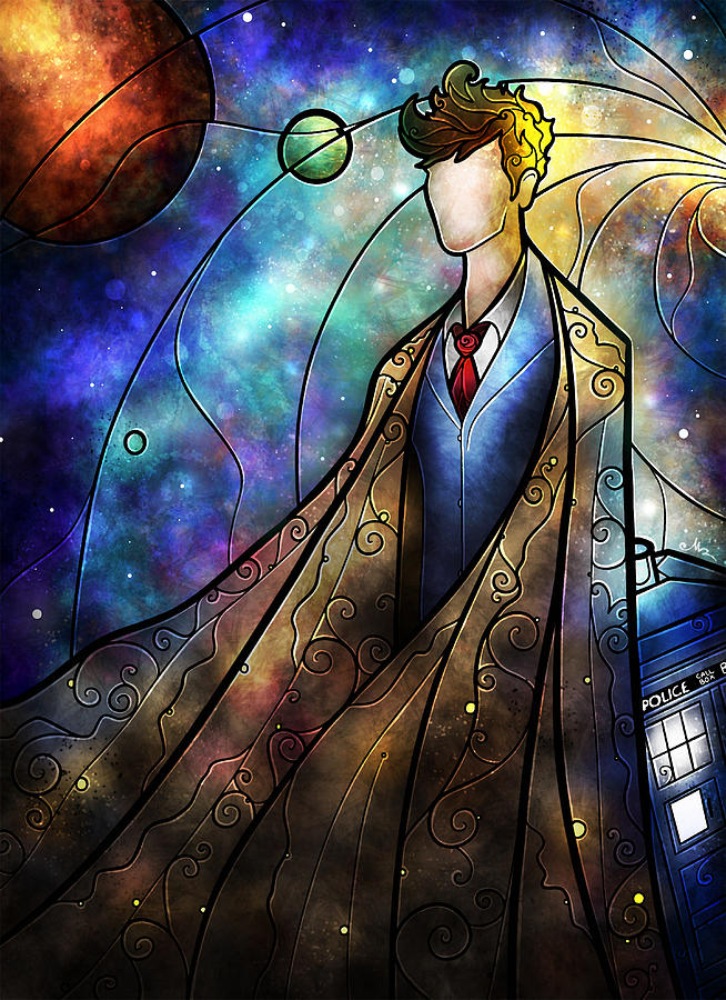 The Doctor Digital Art - The Tenth by Mandie Manzano