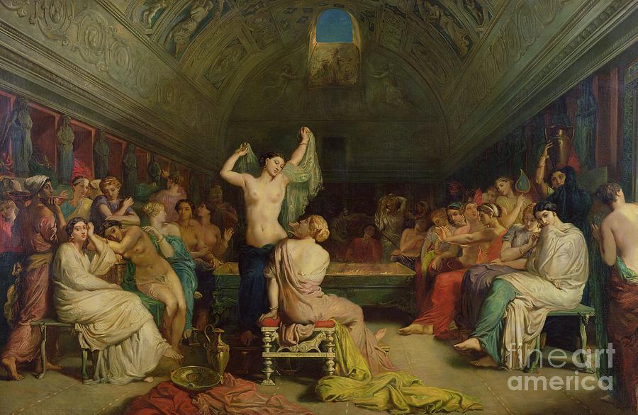 The Painting - The Tepidarium by Theodore Chasseriau