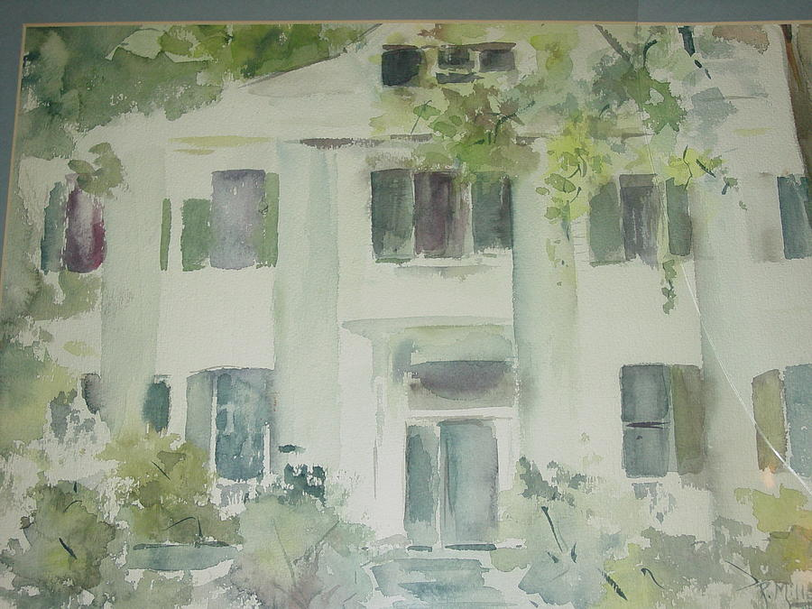 Little Rock Painting - The Terry Mansion by Robin Miller-Bookhout