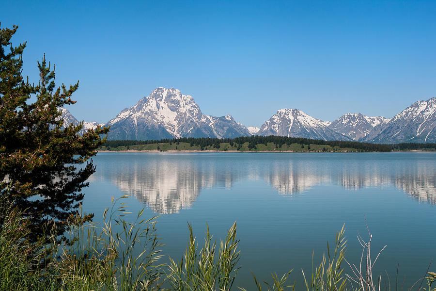 Grand Teton National Park Photograph - The Tetons On Jackson Lake - Grand Teton National Park Wyoming by Brian Harig