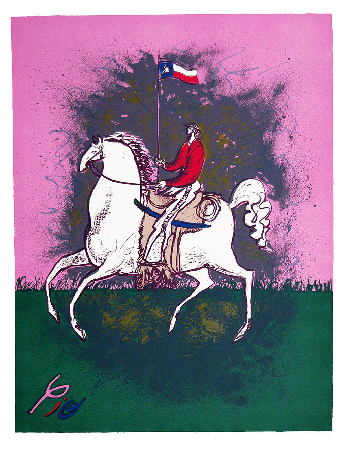 Texas Print - The Texan by Pio Pulido