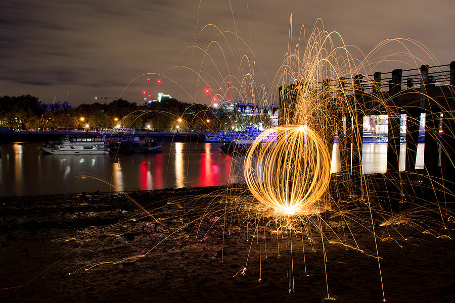 London Photograph - The Thames Orb by Andrew Lalchan