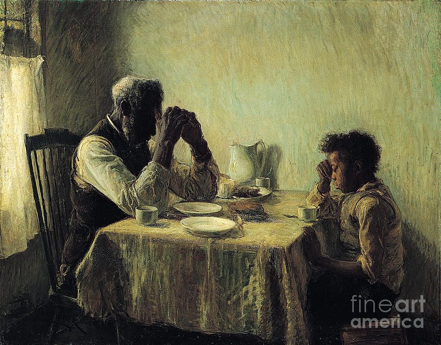 Henry Ossawa Tanner Painting - The Thankful Poor by Celestial Images
